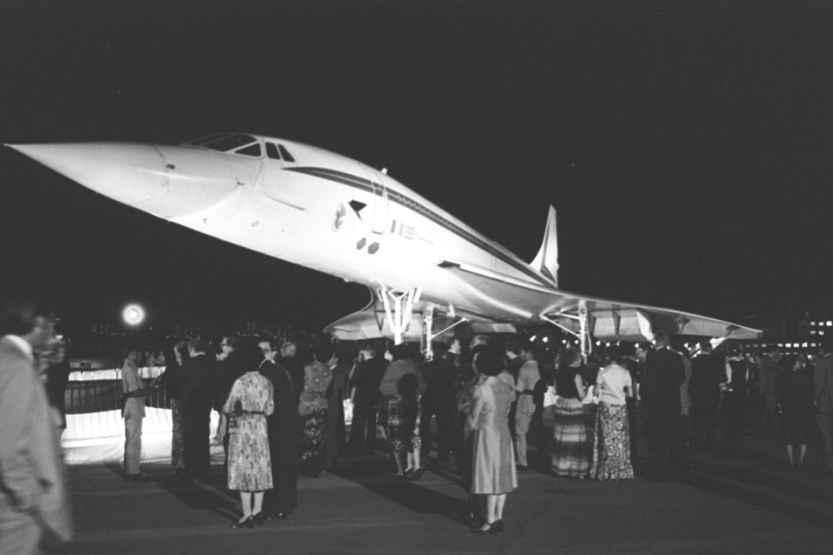 The Concorde at Kai Tak airport.