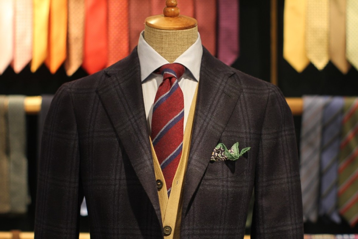 A sports jacket with a combination of colours and patterns. Photo: Attire House