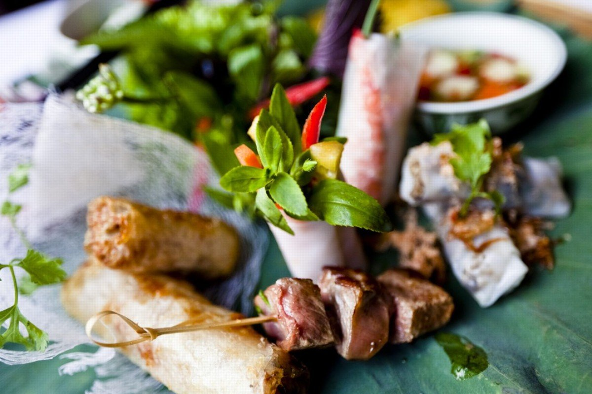 Spring rolls are one of the mainstays of Vietnamese cuisine.