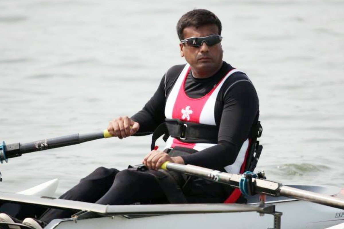 Ajmal Samuel (pictured) and Daniel Yau will be the first people with disabilities to row around Hong Kong Island. Photos: Royal Hong Kong Yacht Club