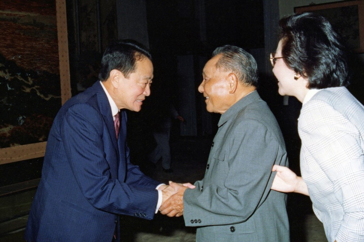 Robert Kuok with Deng Xiaoping and his daughter Deng Rong in Beijing in 1990. Photo: Robert Kuok, A Memoir