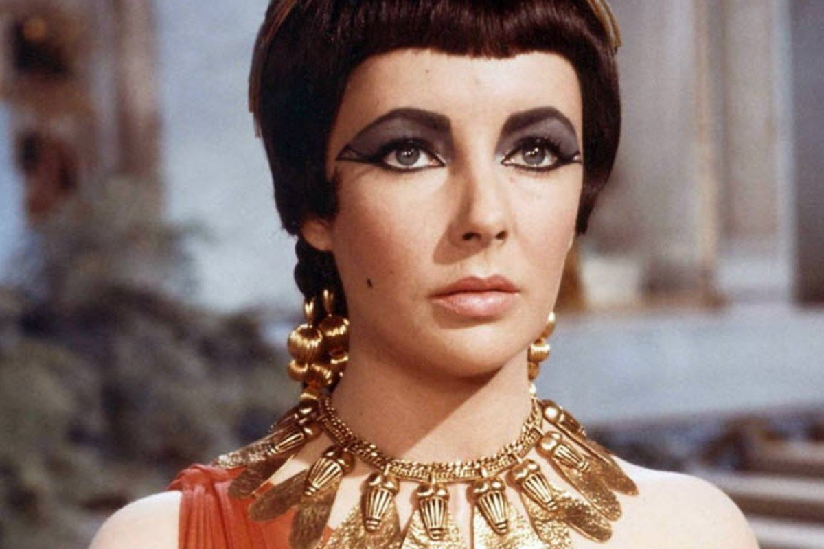 Elizabeth Taylor pictured in a scene from one of her most famous films, 'Cleopatra'.