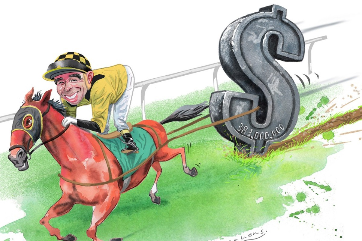 Joao Moreira carries hundreds of millions in betting at every meeting in Hong Kong. Illustration by Craig Stephens