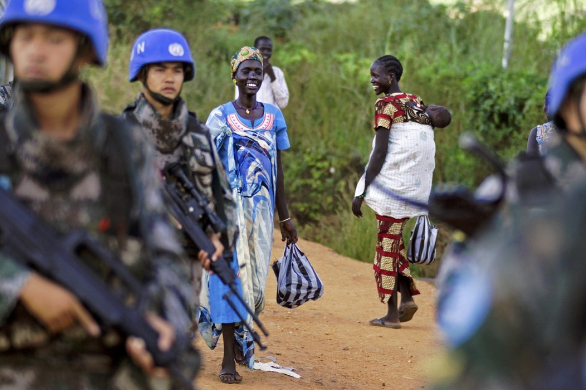 Peacekeeper troops from China deployed by the United Nations Mission in South Sudan last year. Photo: AFP