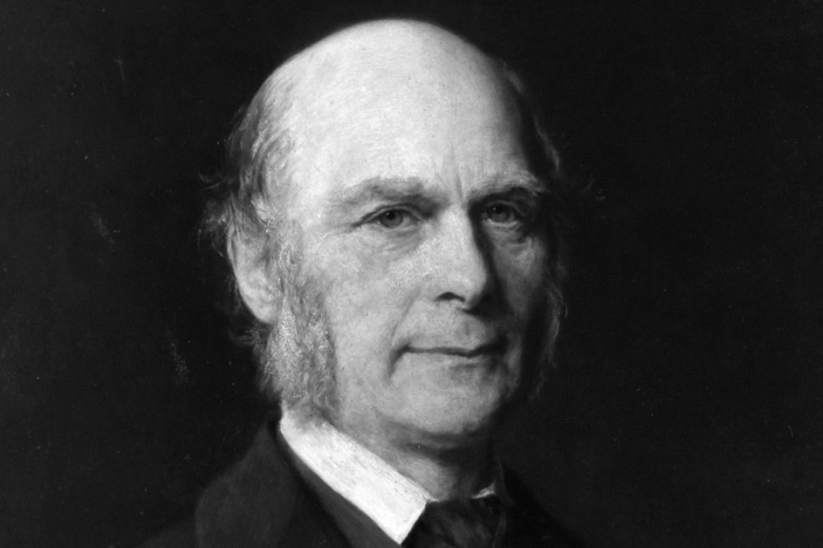 A 1882 oil on panel of British polymath Francis Galton, by German painter Gustav Graef. Picture: Alamy