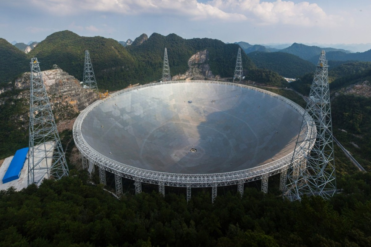 China Could Make First Contact With Aliens Would Beijing Tell The Here Comes Living Laser Aperture Spherical Radio Telescope Fast In Pingtang Guizhou Province Is Size