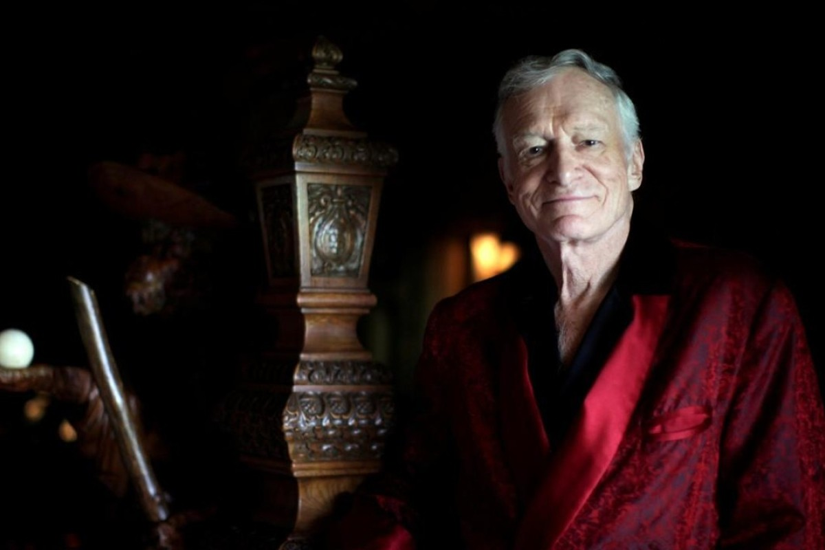 Hugh Hefner at his Playboy Mansion in Los Angeles, California. Photo: Reuters