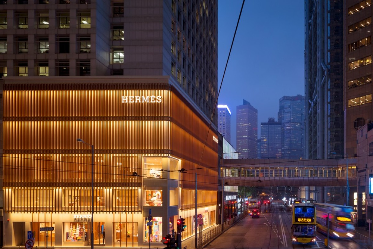 Hermès opens biggest Hong Kong store at Landmark Prince's building.