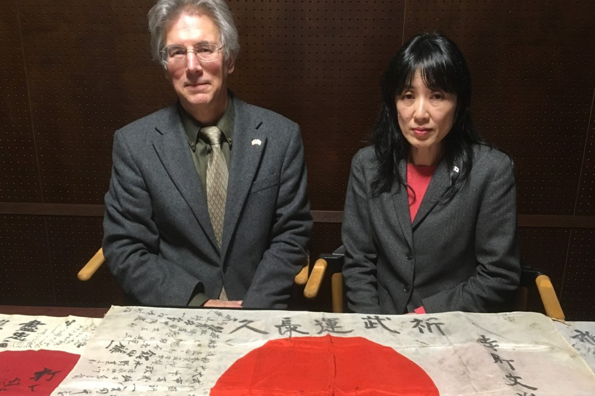 Rex and Keiko Ziak operate the Obon Society, a humanitarian initiative to reunite the flags of fallen Japanese soldiers with their surviving families. Photo: Handout