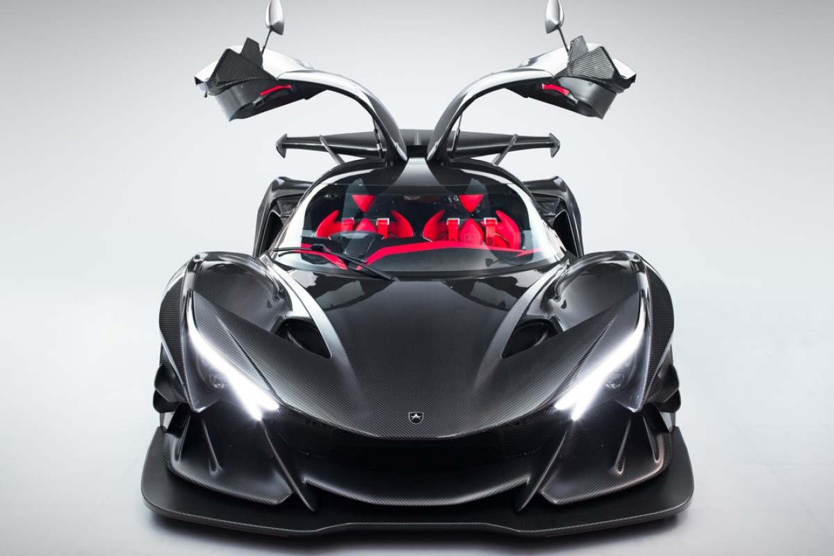 The hypercar features a lightweight and aerodynamically efficient full carbon-fibre chassis.