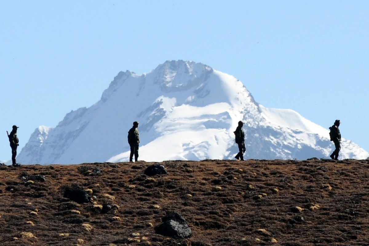 Indian Army personnel patrol the India-China border. Photo: AFP