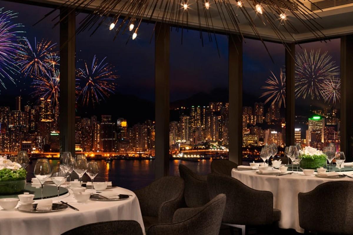 Hong Kong's Lunar New Year fireworks seen from Above and Beyond, at Hotel ICON