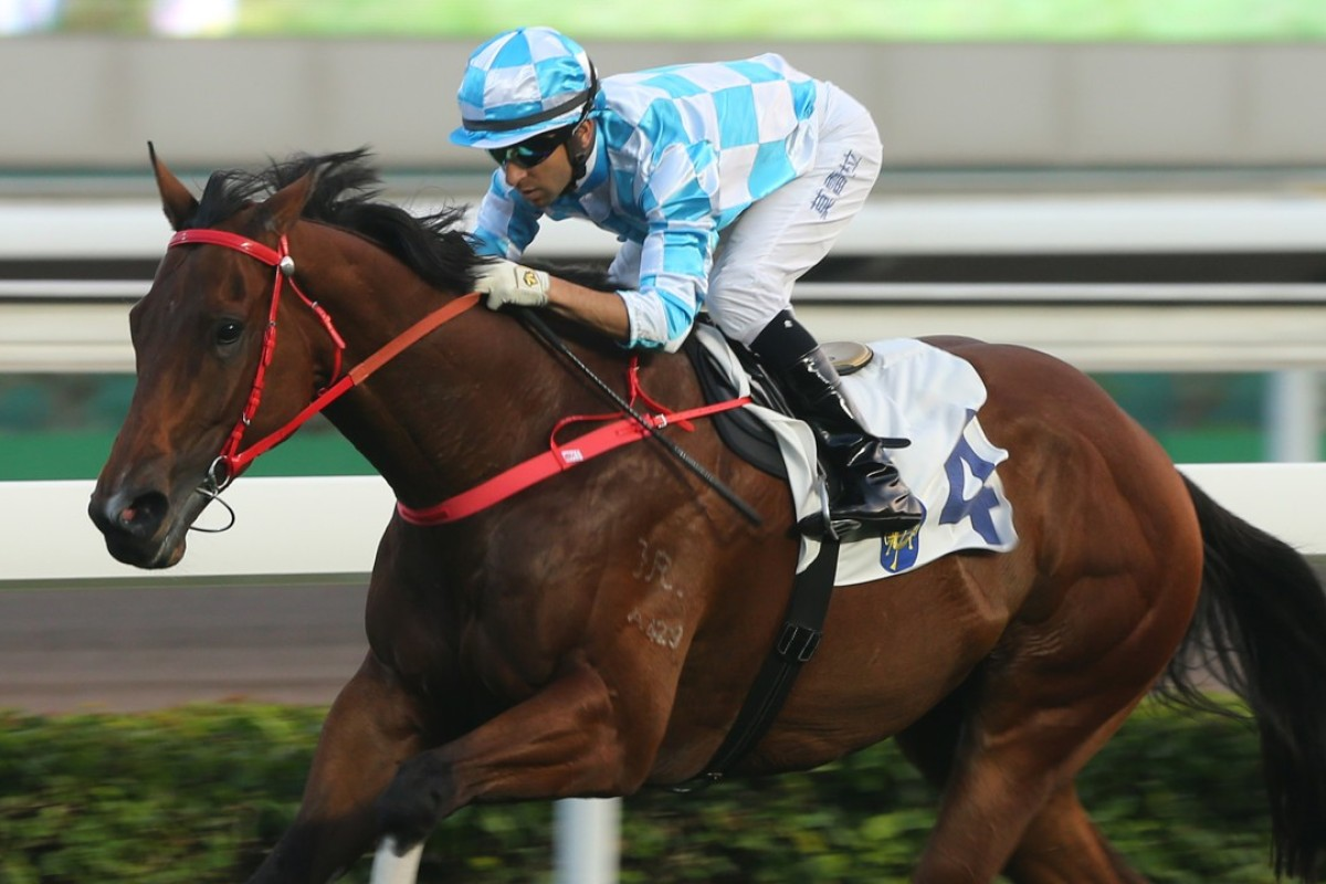 Joao Moreira guides Conte to win in January. Photos: Kenneth Chan