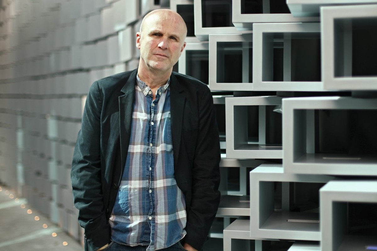 British theatre actor and playwright Tim Crouch at ArtisTree in Quarry Bay. Picture: Nora Tam