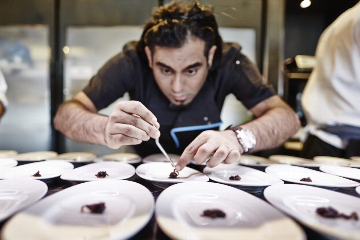 Gaggan Anand preparing lunch at the Conrad Algarve's Thai Delight. Photo: VASCO CELIO