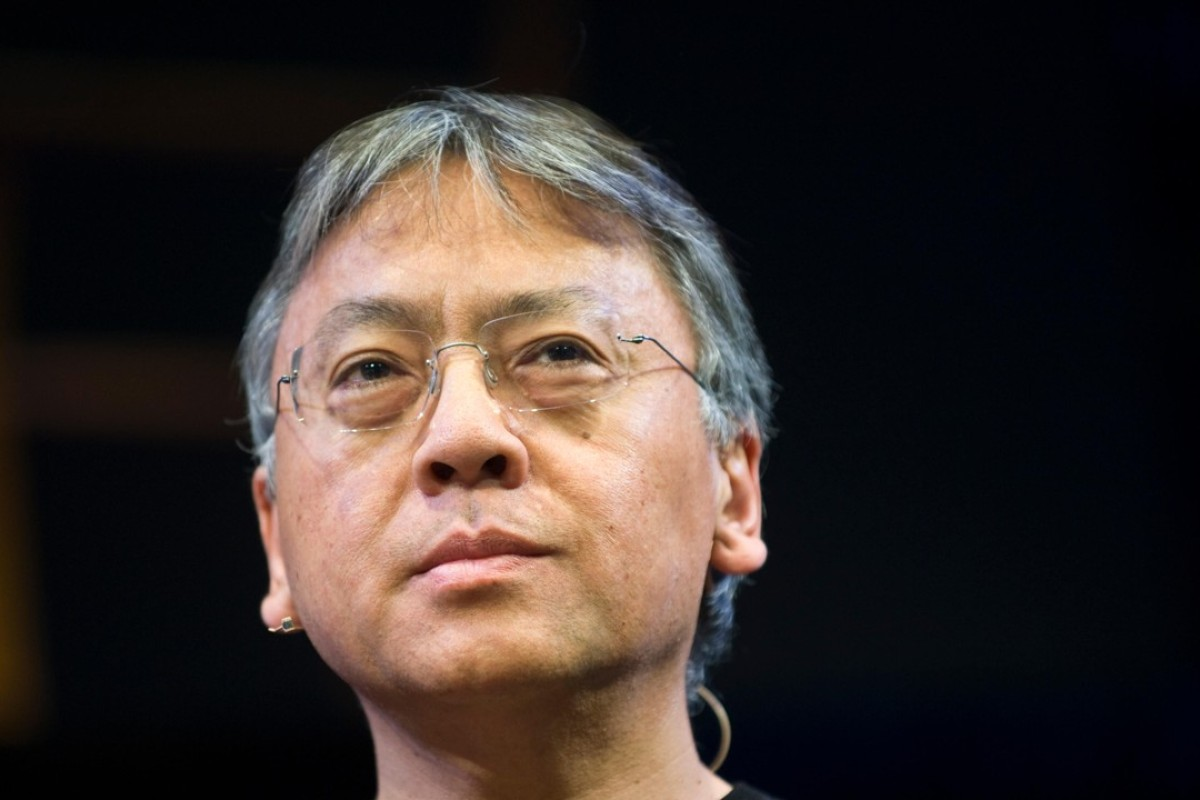 Nobel Prize-winning Japanese author Kazuo Ishiguro speaking on stage at Hay Festival in 2015. Picture: Alamy