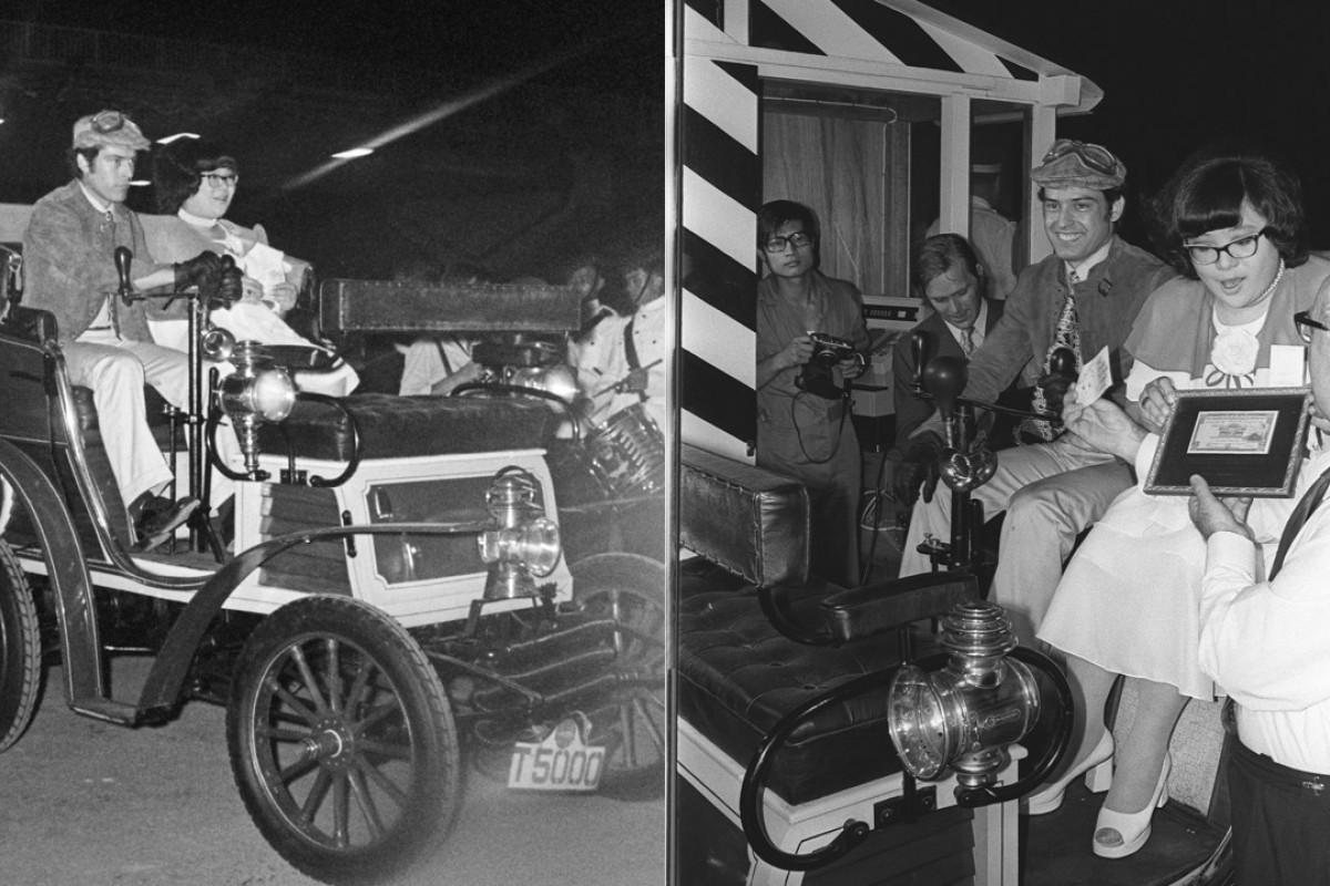 Lydia Shum was all smiles at the opening ceremony of the Cross-Harbour Tunnel on August 2, 1972, when a vintage car she was in became the first vehicle to travel from Kowloon to Hong Kong.