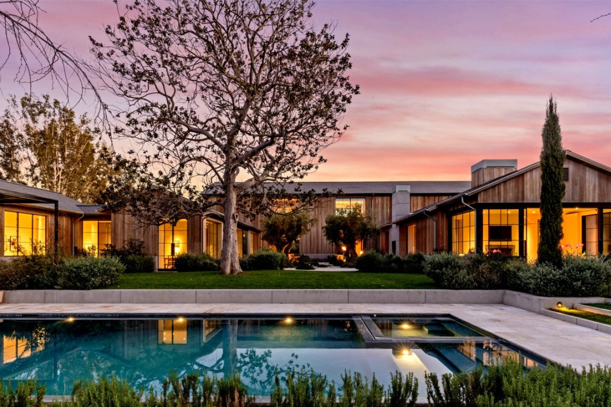 The Los Angeles estate of late Paramount Pictures chairman Brad Grey, which is for sale at US$77.5 million. Photo: TNS