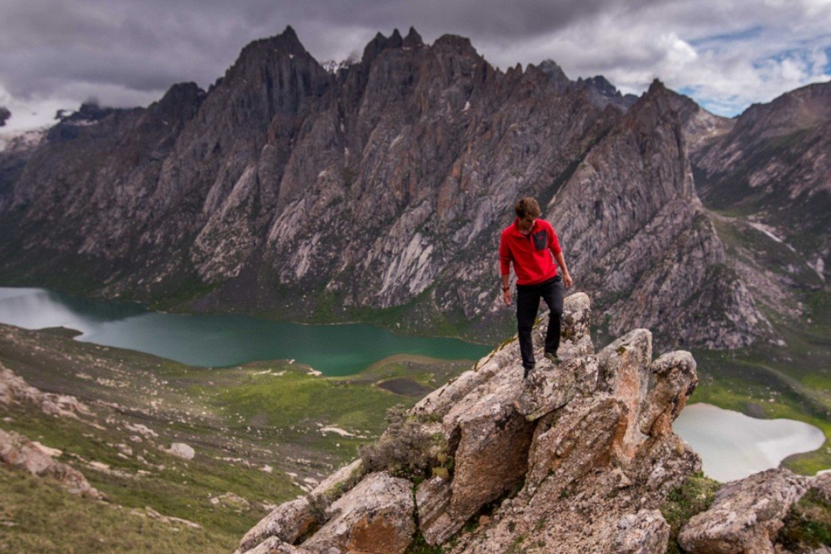 Kyle Obermann exploring the sacred peaks of Golok. Photos: Whistling Arrow