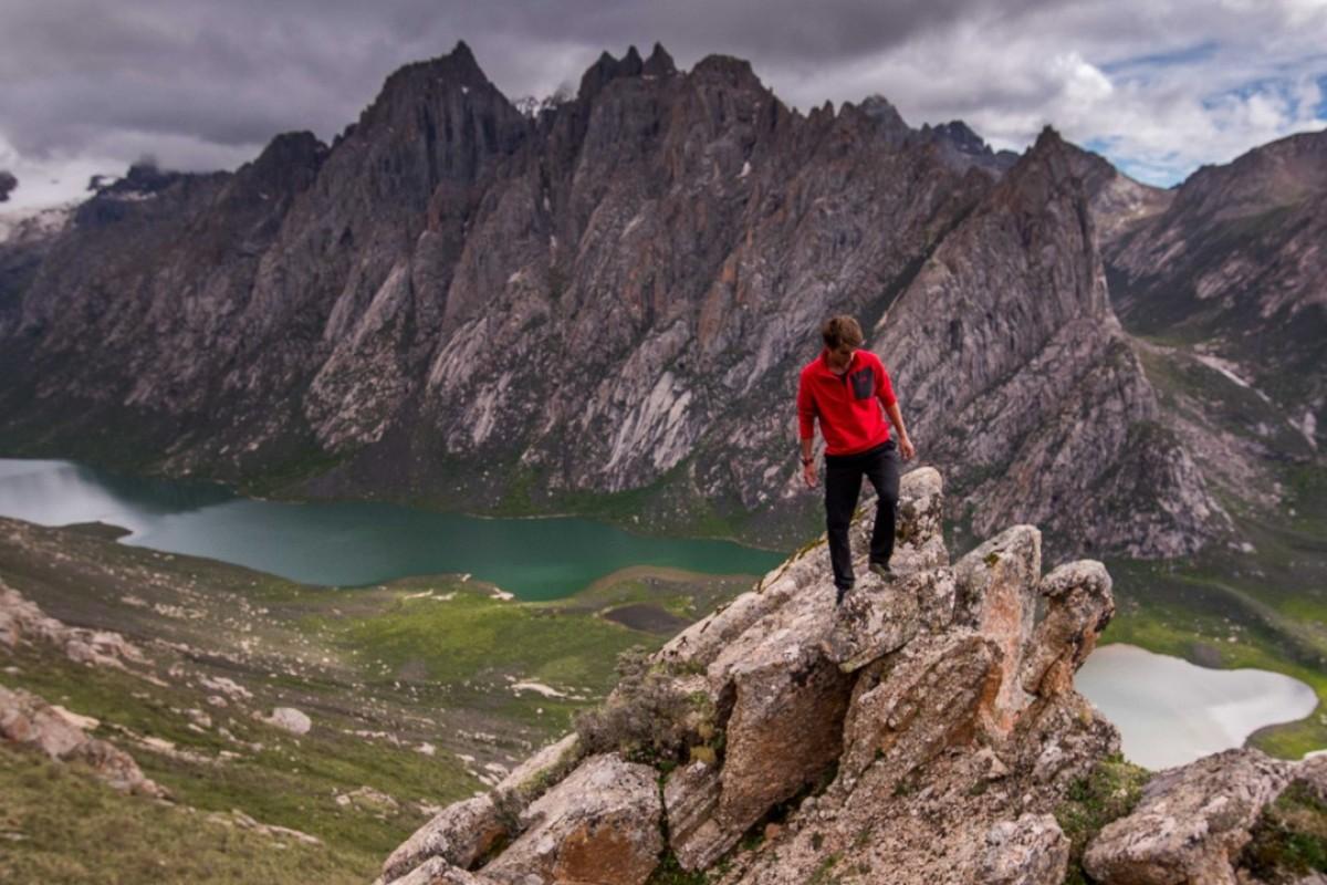 Kyle Obermann exploring the sacred peaks of Golok. Photos: Whistling Arrow