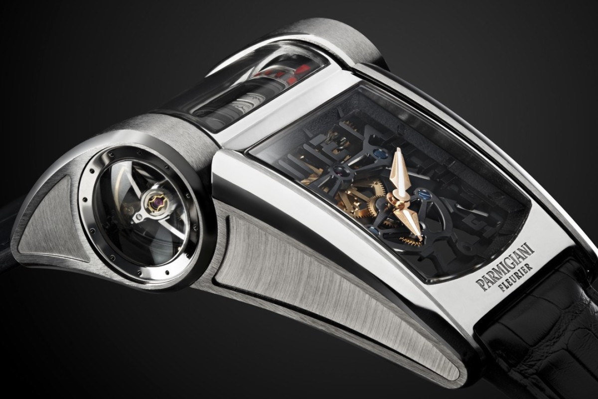 Parmigiani Fleurier's Bugatti Type 390 timepiece is inspired by the engine of the latest Bugatti Chiron supercar.
