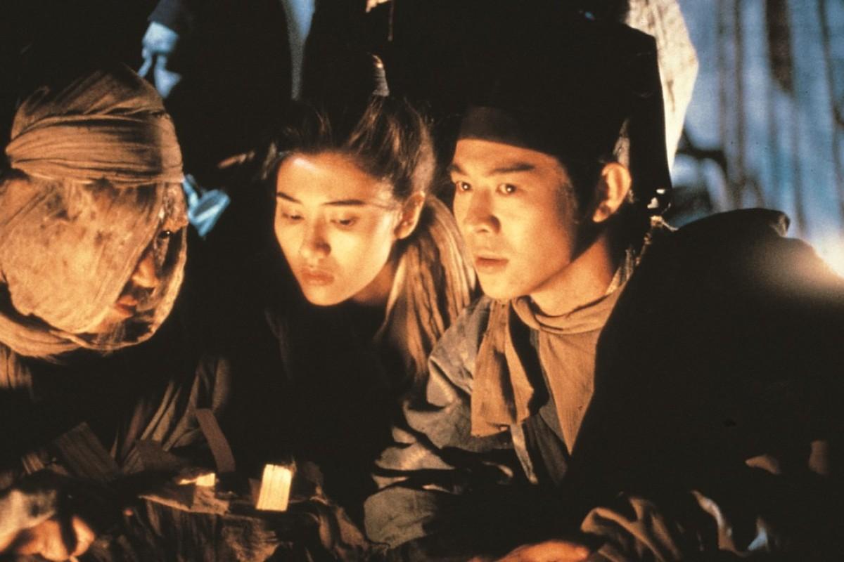Jet Li and Michelle Reis in a still from Swordsman II (1992).