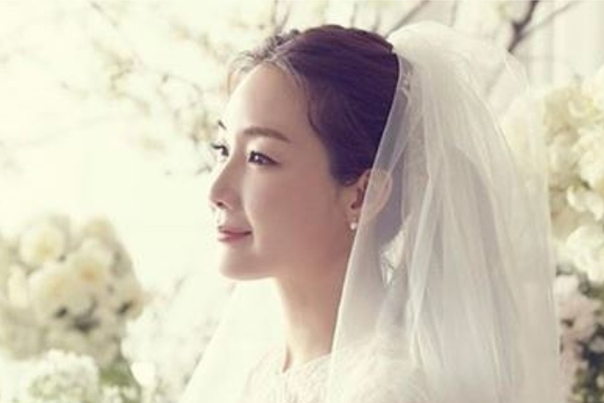 South Korean actress Choi Ji-woo in her wedding dress, created by Lebanese designer Mohammed Ashi. Photo: Instagram