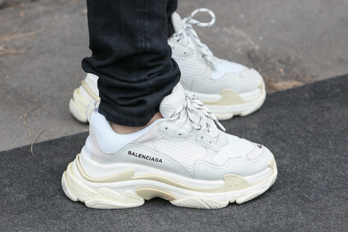 Balenciaga's controversial Made in China Triple S trainers.
