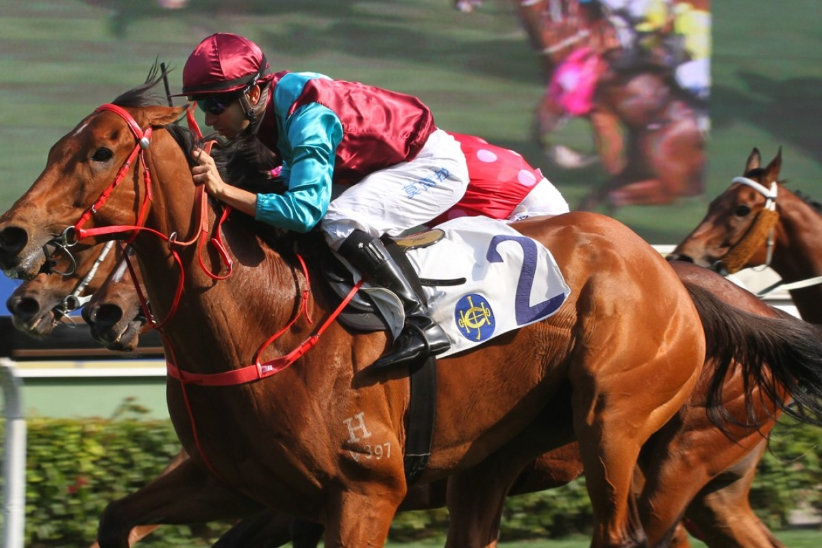 Beat The Clock wins the Group Two Sprint Cup. Photos: Kenneth Chan