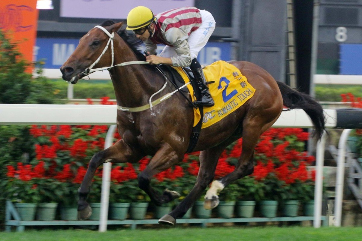 Joao Moreira guides Romantic Touch to victory in the Macau Hong Kong Trophy at Taipa in March. Photos: Kenneth Chan