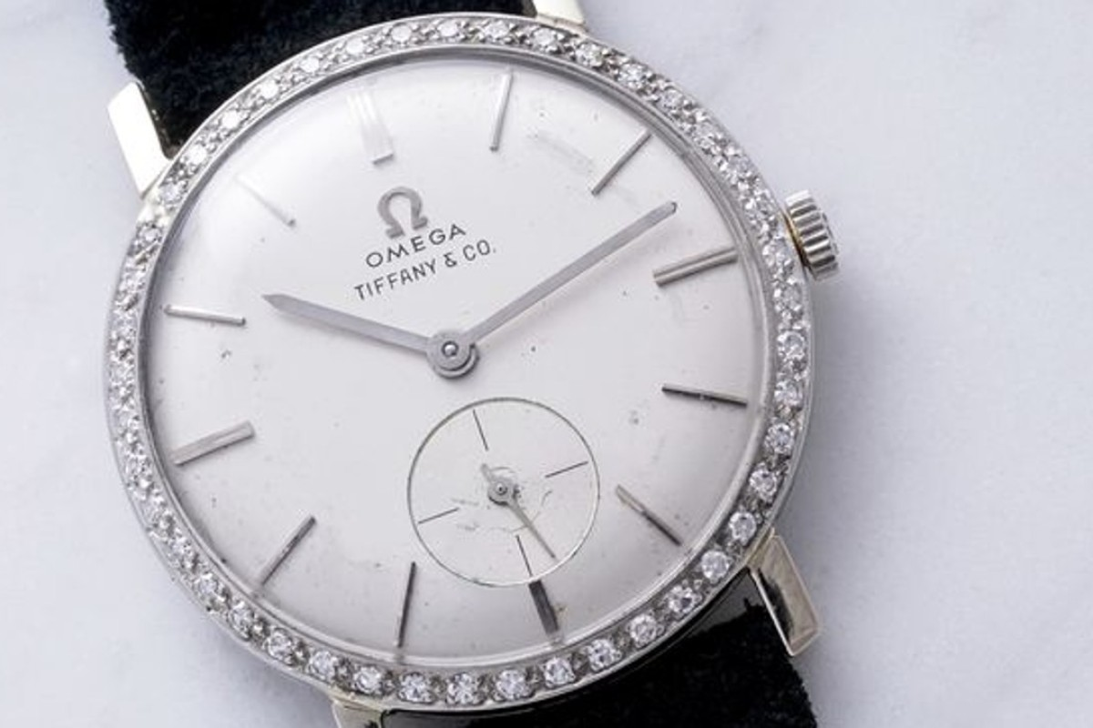 A 1960 Omega watch that once belonged to singer Elvis Presley, adorned with 44 diamonds, which was sold at auction for US$1.8 million. Photo: Phillips