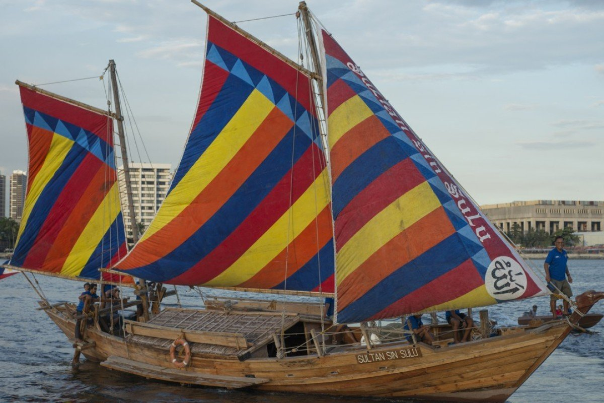 The Sultan Sin Sulu in Manila Bay last month. Pictures: Antony Dickson