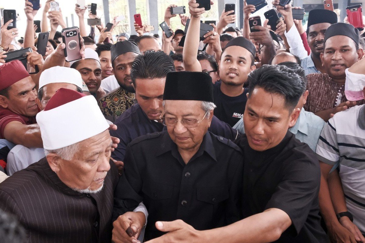 Malaysia's newly elected Prime Minister Mahathir Mohamad after Friday prayers in Kuala Lumpur. Photo: AP