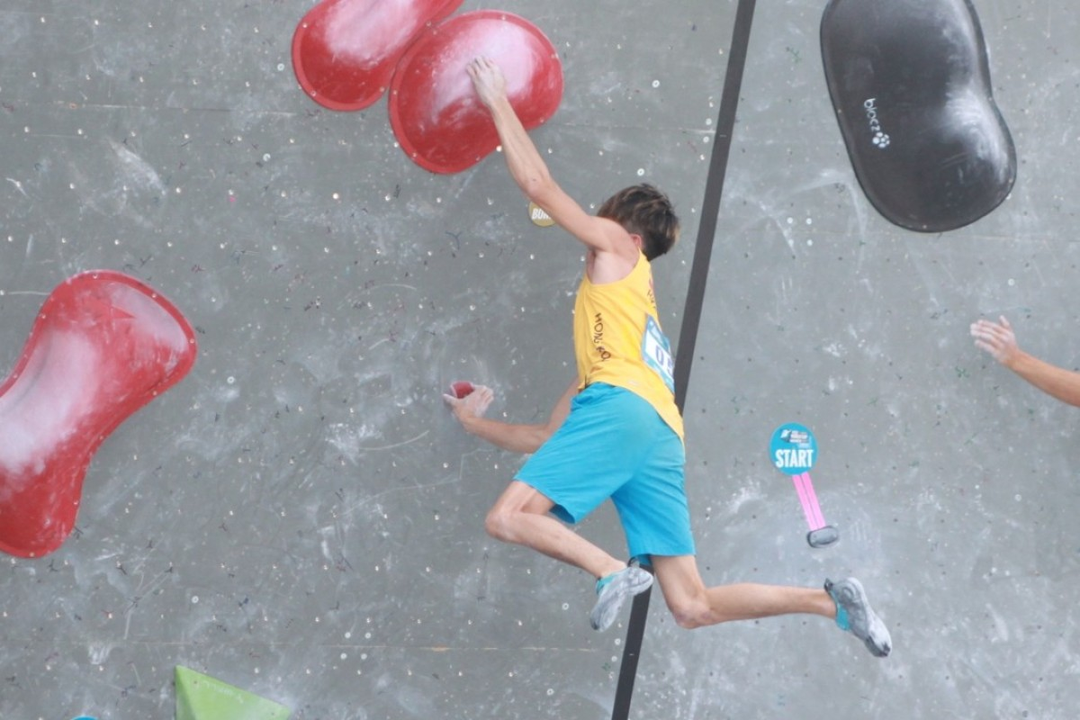 Au Chi-fung is a Hong Kong climber who competed at the IFSC bouldering World Cup. Photo: Handout