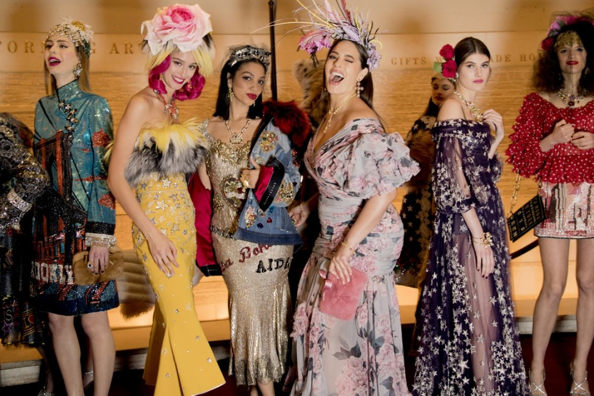 Models display luxurious creations at the Dolce & Gabbana Alta Moda Show at New York's Metropolitan Opera House. Photo: Dolce & Gabbana