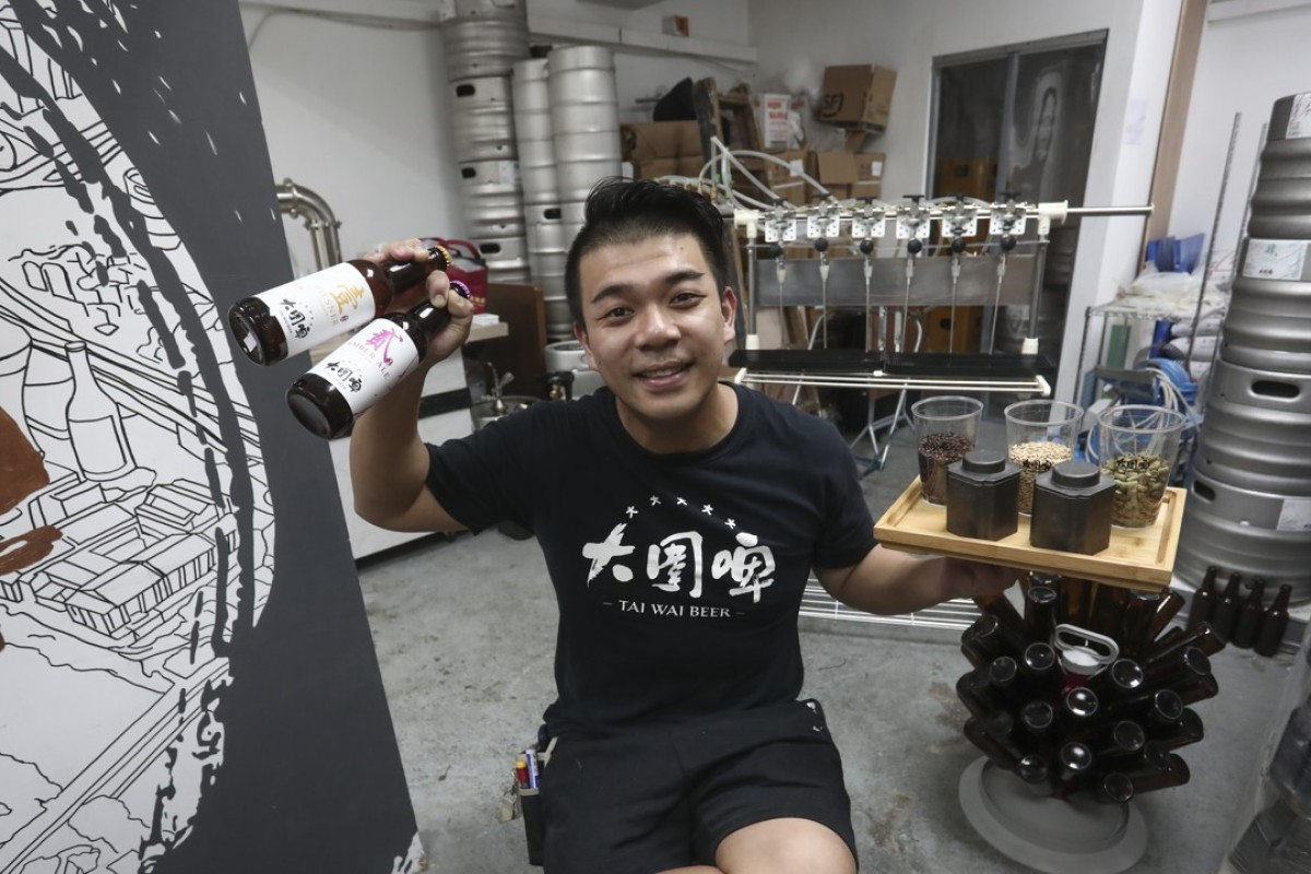 Henry Wu at the Tai Wai Beer microbrewery in Kwai Chung. Pictures: Jonathan Wong
