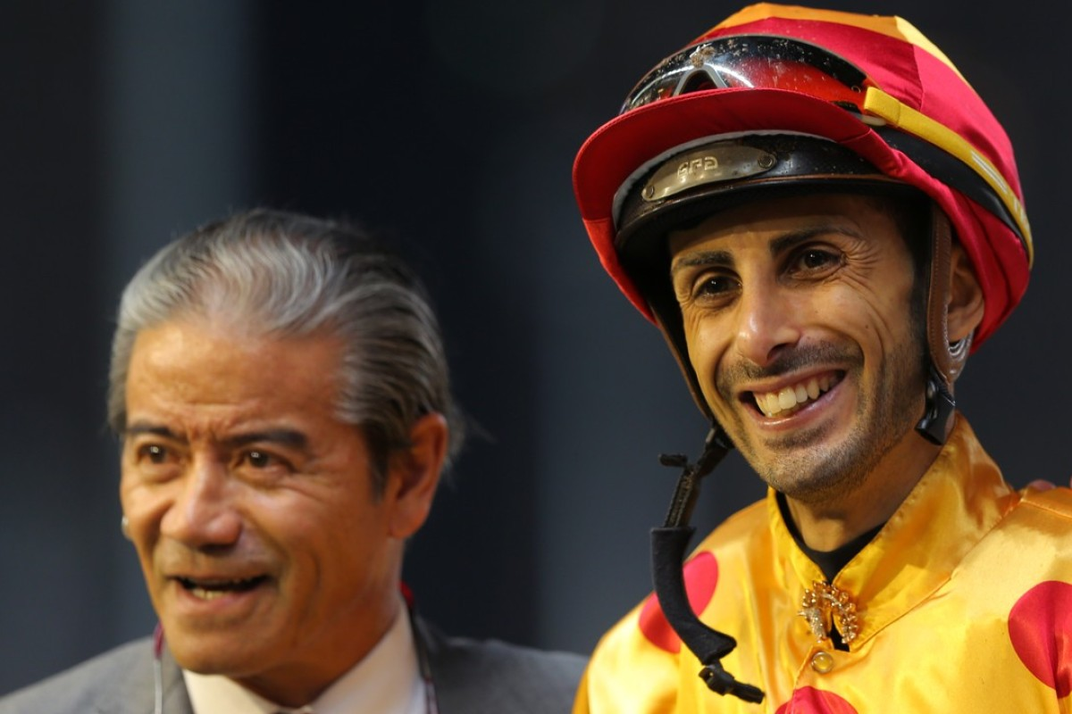 Tony Cruz and Alberto Sanna after Gold Mount's win at Happy Valley in March. Photos: Kenneth Chan.