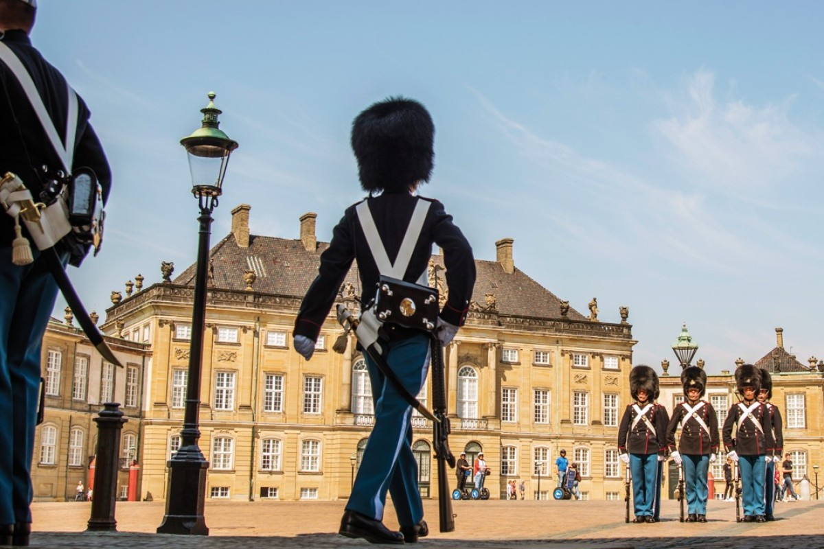 The changing of the guard at Amalienborg Palace. Pictures: Tim Pile