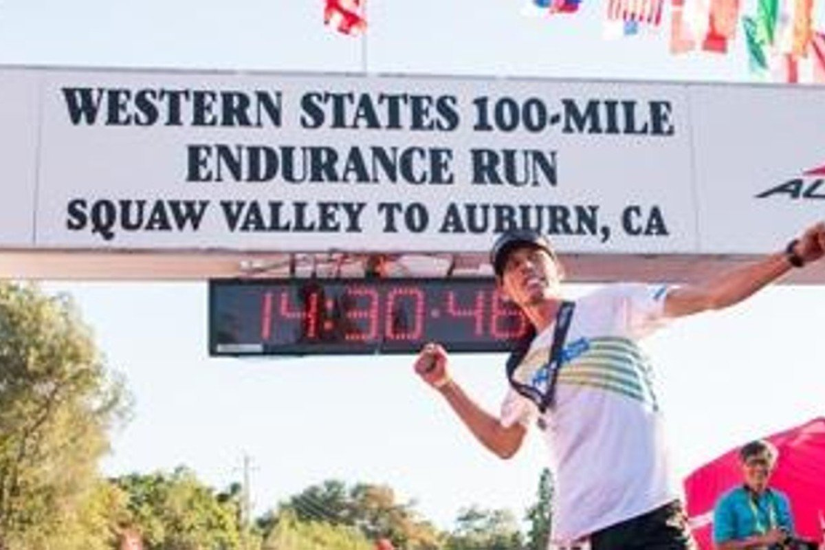 Hoka One One's athlete Jim Walmsley sets the Western States record, shaving 16 minutes off the record. Photo: Hoka One One