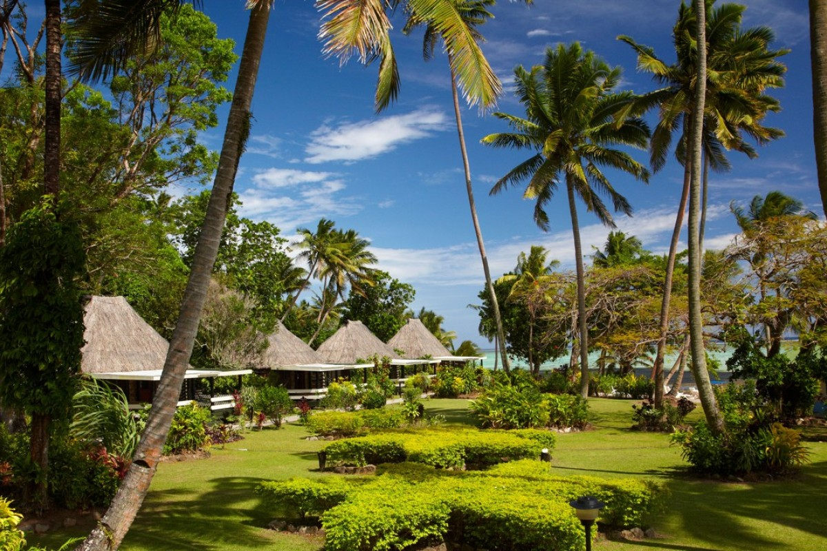 Crusoe's Retreat is one of many resorts that line the Coral Coast, Viti Levu. Picture: Alamy