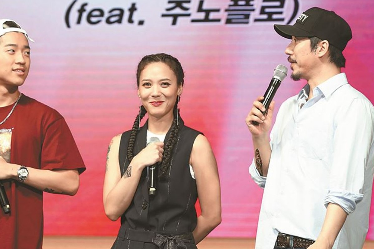 'Rap queen' Yoon Mi-rae launches her new album, 'Gemini II' in Seoul on Thursday, with her husband, rapper Tiger JK. Photo: Yonhap
