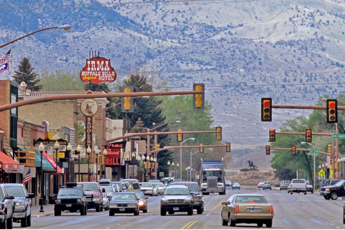 The Irma hotel in Cody, Wyoming, was named after one of Buffalo Bill's daughters. Picture: Alamy