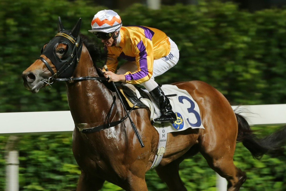 Zac Purton guides Saul's Special to victory at Happy Valley on Wednesday night. Photos: Kenneth Chan