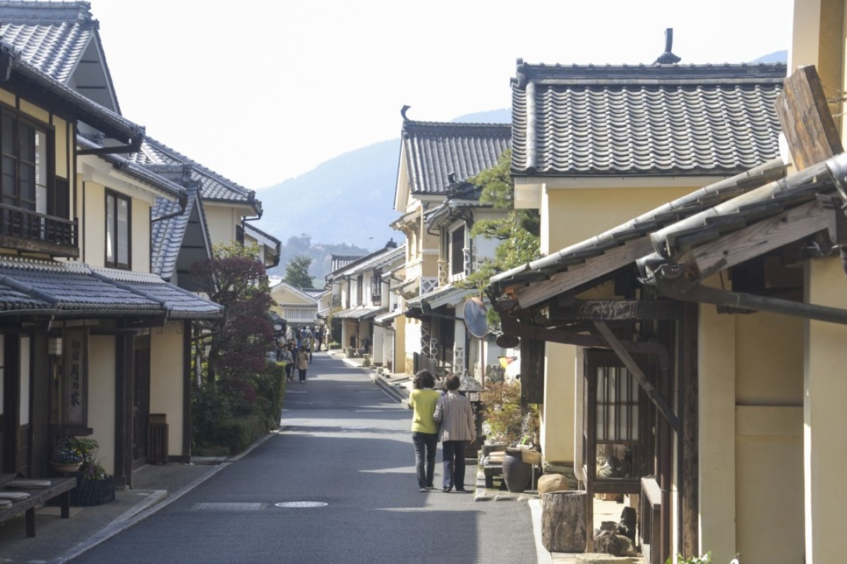 The heritage-listed street where Hisa is located in Uchiko, Japan.