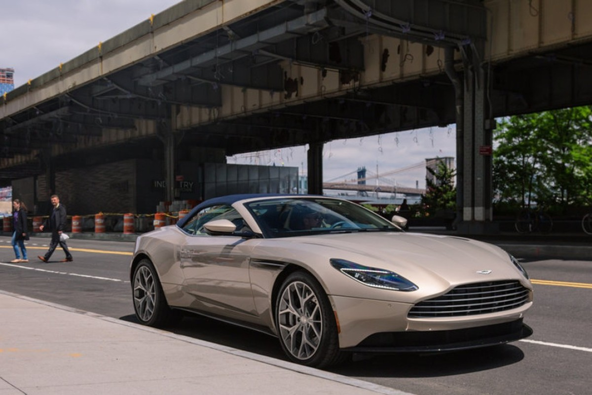 The Aston Martin DB11 Volante makes an immediate impression at any speed. Photo: Hollis Johnson / Business Insider