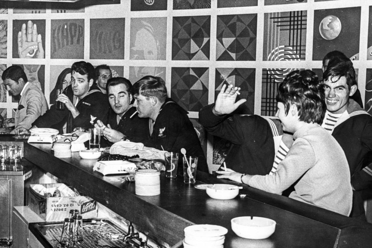 Sailors in a Wan Chai bar in Hong Kong, in 1969. Picture: SCMP