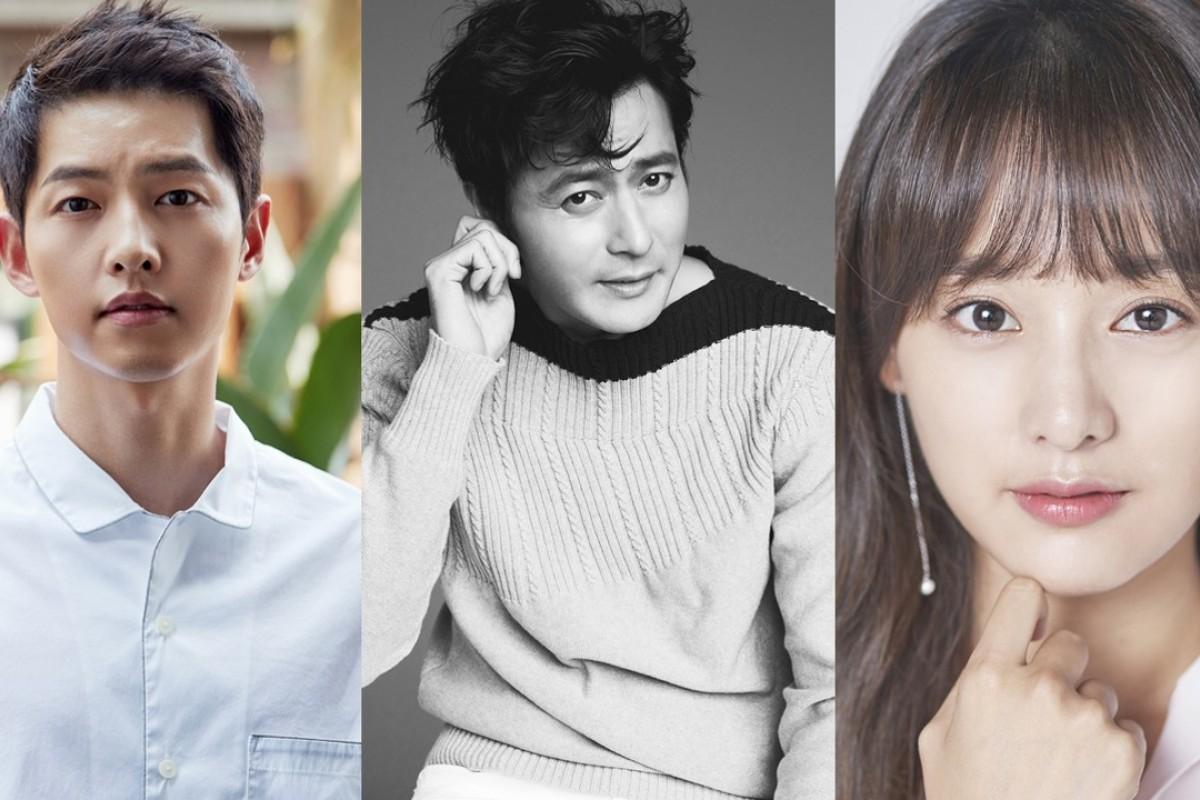 (From left): Song Joong-ki, Jang Dong-gun and Kim Ji-won will star in the 2019 Korean drama 'Asdal Chronicles'.