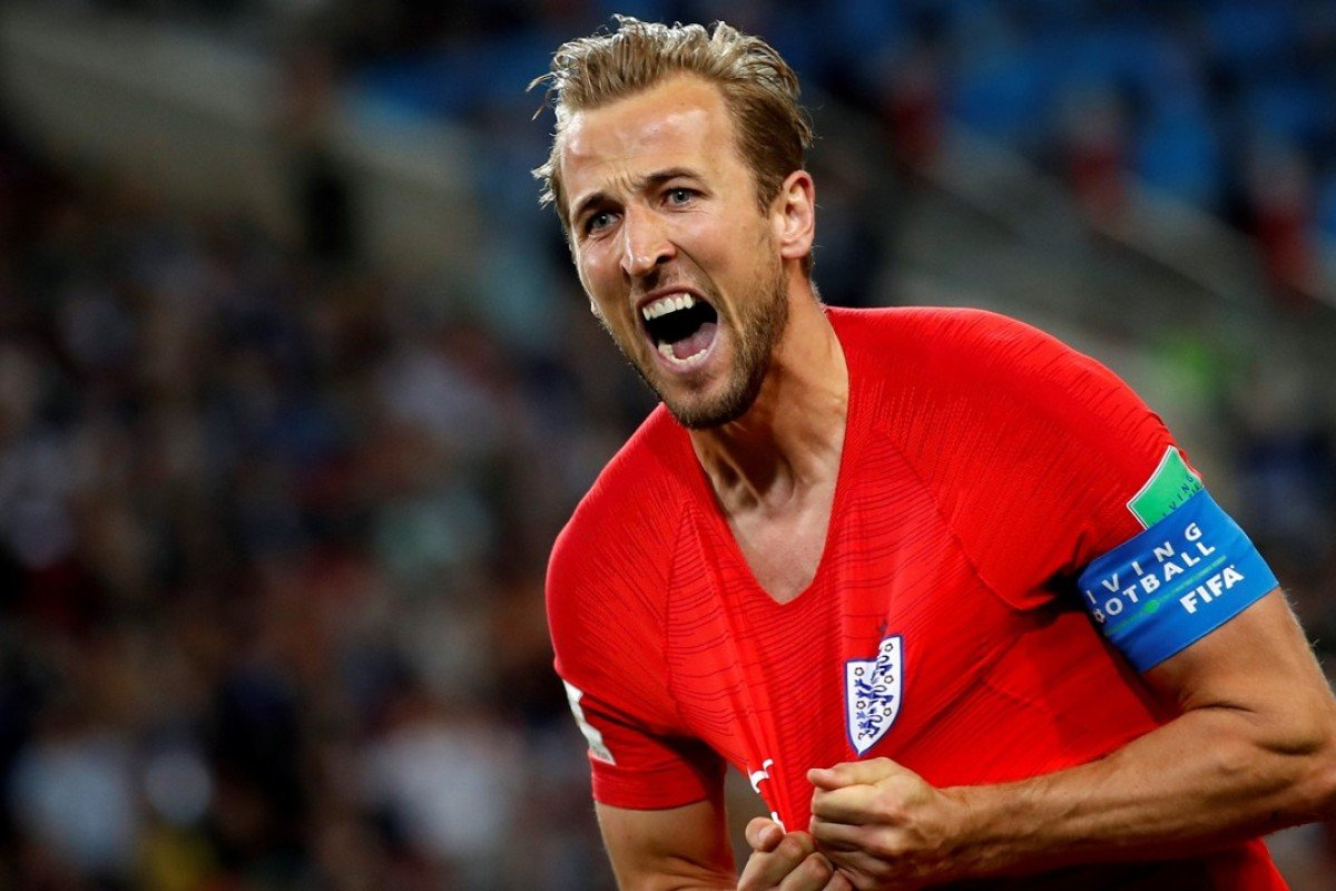 Harry Kane of England celebrates scoring in his team's last-16 victory win against Colombia at the World Cup in Russia which ended with him finishing as top goalscorer and one of the tournament's 10 best players. Photo: EPA-EFE