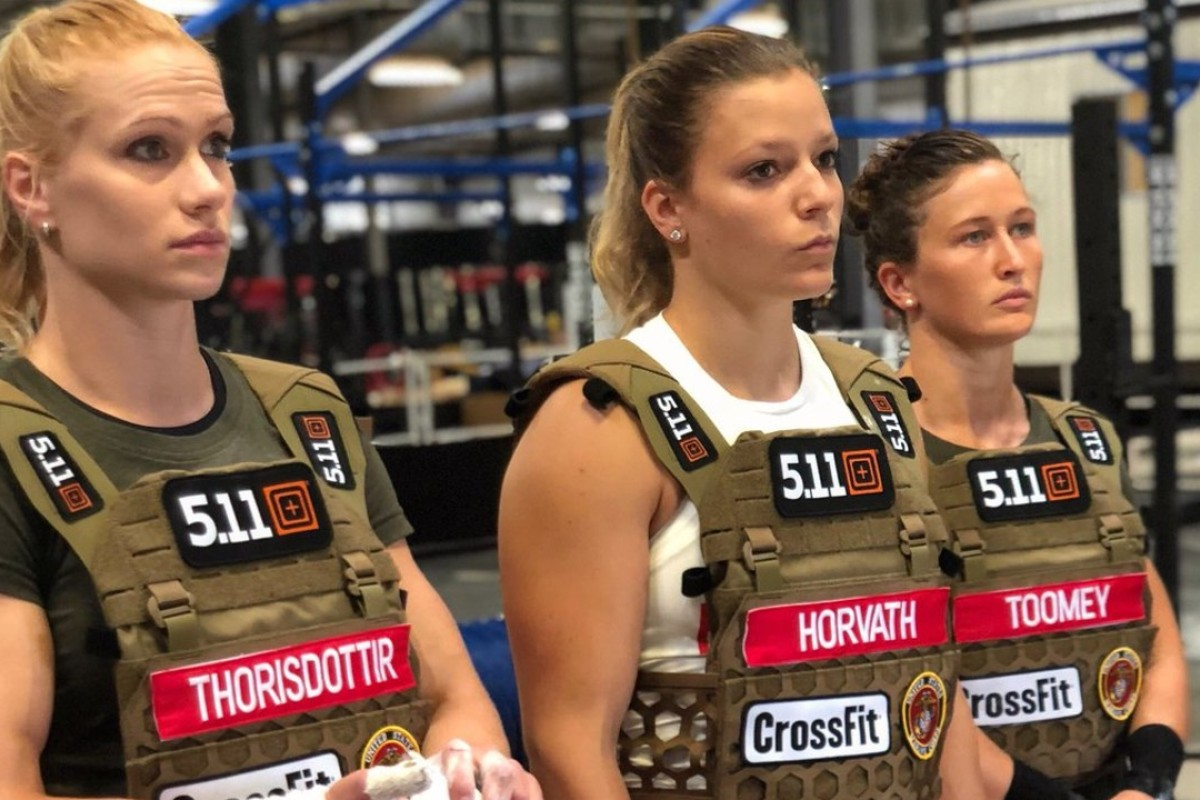 Laura Horvath, Annie Thorisdottir and Tia Toomey are battling it out in the women's competition. Photos: Twitter/@CrossFitGames