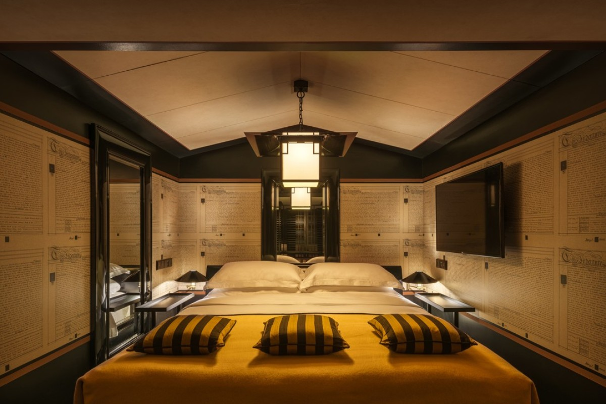 The Opium Suite bedroom at the Six Senses Duxton, Singapore. Pictures: Six Senses Duxton, Singapore